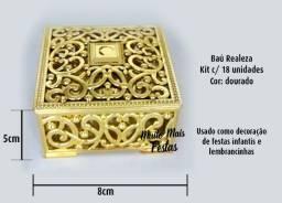 Porta Jóia Baú Realeza Dourado - 18 unidades