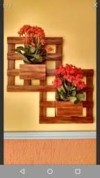 cachepot madeira quadrado duplo