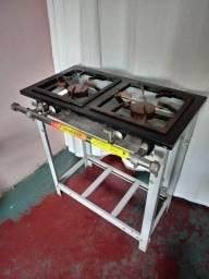 Vendo fogão 2 bocas, venâncio baixa pressão usado 1 vez!