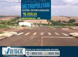 Terreno barato em Arapongas, faz duas casas só 35.000