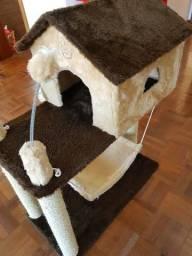 Arranhador Brinquedo Casinha Para Gatos De Pelúcia House Fit Playground Para Gatos
