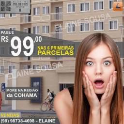 Apartamento próximo da Cohama apenas 99,00 nas 6 primeiras parcelas Elevador e Suíte
