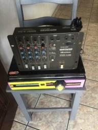 Amplificador Caseiro, Dvd, Mesa de 4 Canal