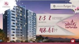 Lindo apartamento com 2 elevadores por torre no Jardins das cerejeiras