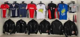 Camisas e acessórios para motociclistas