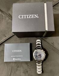 Título do anúncio: Relógio Citizen Eco Drive Titânio Solar CA 0550- 52l Azul PERFEITO estado na CAIXA PARCELO