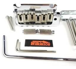 02 Modelos de Pontes Tremulo Wilkinson Stratocaster 2pivôs Itens Completos