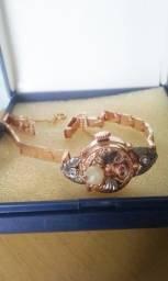 relógio pulseira ouro