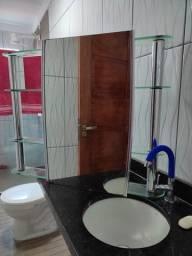Armário para banheiro grande c espelho de correr