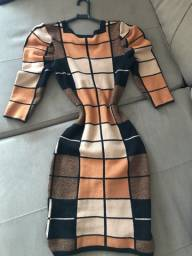 Vestido de tricot mídi