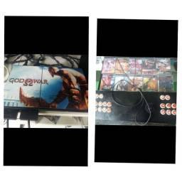 Título do anúncio: PLAYSTATION 2 + CONTROLE ARCADE DUPLO