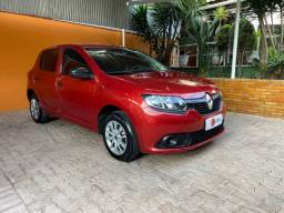 Renault Sandero 1.0 Authentique 03 Cilindros 12v 2018 com 46.000 Km, financiamos!