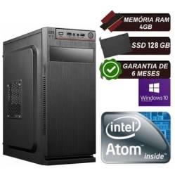 Computador Intel Atom Quad 4gb Ssd 128 Gb Wi-fi Windows 10