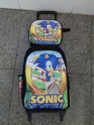 Sonic Mochila Grande e Lancheira