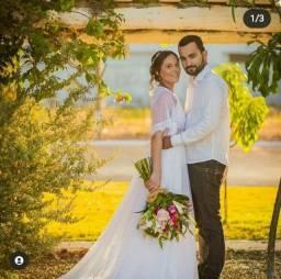 Vestido de noiva romantico poá 38/40