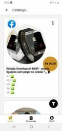 Relógio   SmartWaTCh  Dz09  atenda  ligação  sem  pega  no  celular