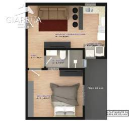 Título do anúncio: Apartamento à venda, JARDIM SANTA MARIA, TOLEDO - PR