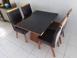 Mesa Retangular com 4 Cadeiras MADEIRA