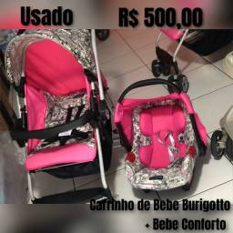 Carrinho + bebe Conforto Burigotto Crianca