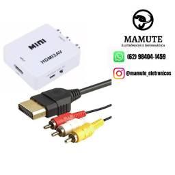 Mini Adaptador Conversor Hdmi Para Vídeo Composto Rca 2av