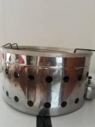 Máquina de fritar batata e coxinha à gás de Inox