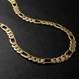 Corrente piastrine banhada a ouro 24k com certificado