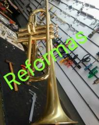 Saxofone sapatilhamento trompete tuba trombone