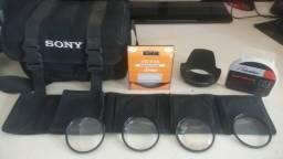 Bolsa para Câmera, filtros e Parasol
