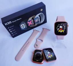 Relógio smartwatch k90 rose