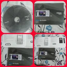 Título do anúncio: Manual e dvd rom Nokia N95 séries 2007