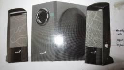 Caixa de som para PC Genius 12 W ou outros usos - Nova na caixa