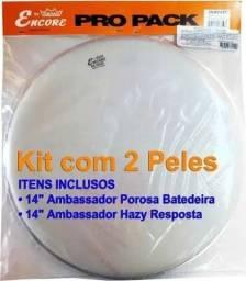 Kit de Peles p caixa Remo Encore Ambassador 14 Batedeira+Resposta. 0km