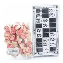 Bingo jogo kit 138pçs ns-1308 novo seculo madeira e papel