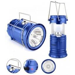 Título do anúncio: Lampião Solar Led USB Lanterna Bateria Recarregável Retrátil