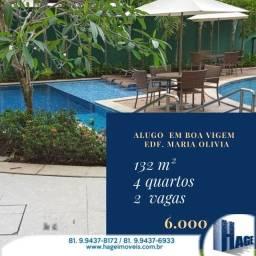 Alugo Maria Olivia 132m²/4quartos/2vagas/ semi-mobilhado