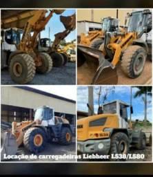 LOCAÇÃO DE CARREGADEIRAS LIEBHERR  L538/ L580