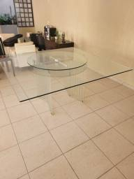 Título do anúncio: Mesa em vidro quadrada 1,70m