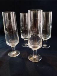 Quatro taças para champagne 100ml