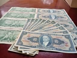 Cedulas de $ 10 $ 5 $ 2 $ 1 Cruzeiros