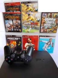 Plays3 Playstation 3 Slim ,controle Gta V, Pes, Fifa 19
