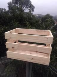 Caixa de feira/ Caixote de madeira (promoção)