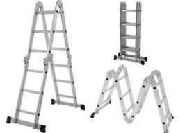 Escada Aluminio Mor Articulada 4x3 resistência p/ até 150kg (Estoque zerado no momento)