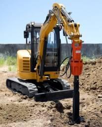 Perfuratriz para mini escavadeira