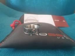 Anel Novo original Rosso Fibra de carbono