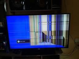 tv smart para retirada de pecas
