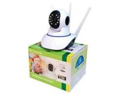 Câmera Ip 3 Antenas Wifi Wireless Externa E Interna 360º
