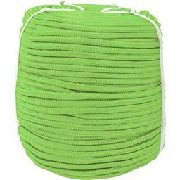 Corda multifilamento trançada 3 mm x 625 m, verde, em carretel o metro