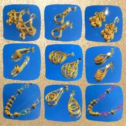 Bijuterias em Capim Dourado | 9 peças