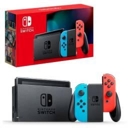 Nintendo Switch Neon Desbloqueável + Cartão 128gb + acessórios