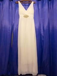 Título do anúncio: Vestido de casamento longo branco com detalhe em stras